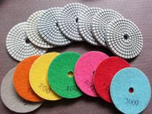 Wet  Diamond Polishing Pads 3 Inch Set Kit For Granite Concrete Marble Polish with velcro back 7PCS free shipping
