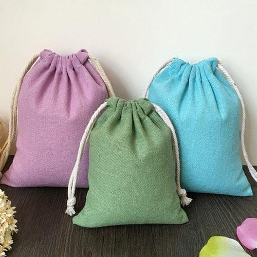 Cotton Gift Pouch 8x10cm 9x12cm 10x15cm(4