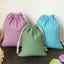 Colorful Cotton Linen Gift Pouch 9x12cm (3 4/8x4 6/8) Baby Shower Birthday Party Wedding Favor Holder Jewelry Packaging Bag