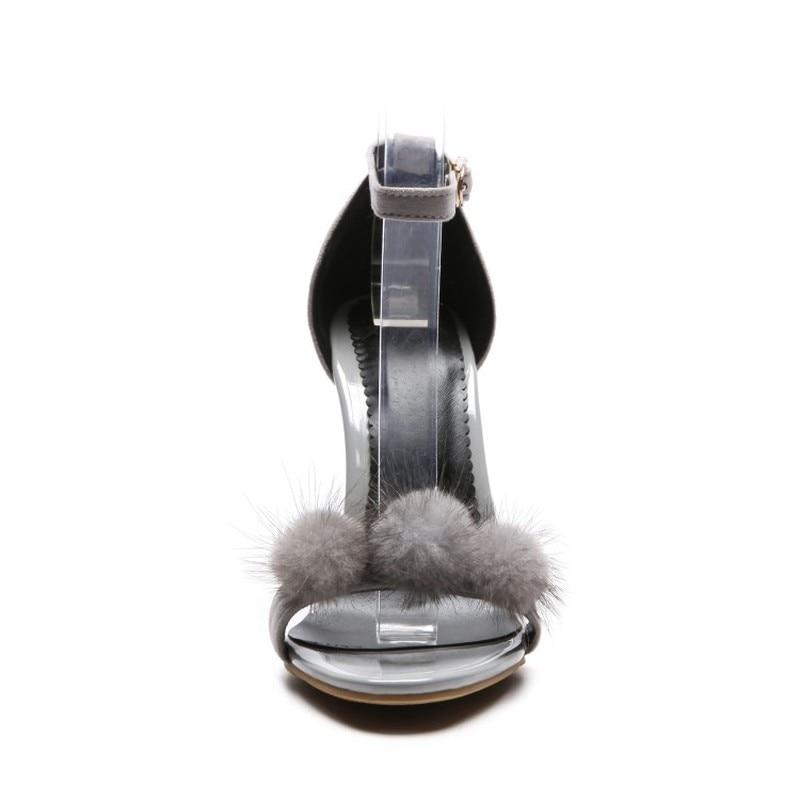 Oprn Toe Di Nero grigio Sottile Alto Moda Donna 2019 Alta Maziao Donne Fibbia Tacco Pompe Sexy Nuovo Scarpe Vestito Delle Grigio Nero il Sandali Bianco Beige fSYwtx0