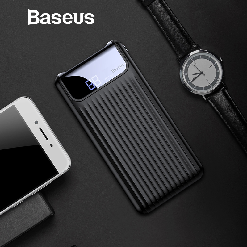 Baseus 10000mAh QC3.0 Quick Charge Power Bank For iPhone Samsung S9 S9 Plus Note 9 Xiaomi PowerBank USB Fast Charging Power Bank