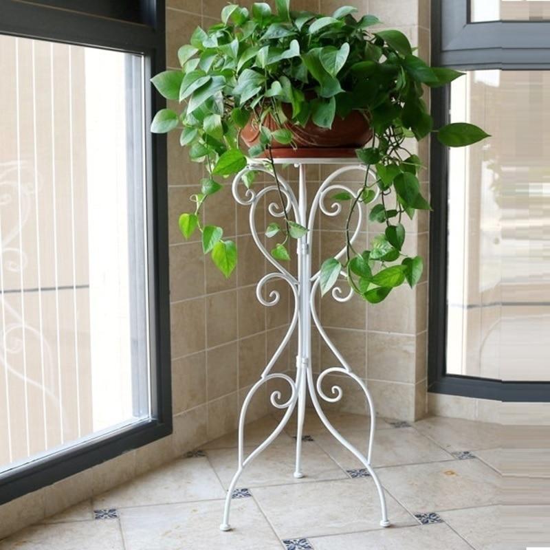 Outdoor Decor Metal Raflar Decoration Afscherming Balkon Sera Support Plante Balcon Balcony Plant Stand Shelf Flower Iron Rack