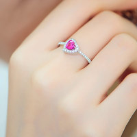 Women's wedding Ring female fashion ring opening lovely simple accessories jewelry gift to send his girlfriend back t