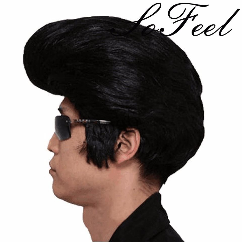 Homme Sous Licence Officielle Elvis Presley perruque robe fantaisie Par Smiffys