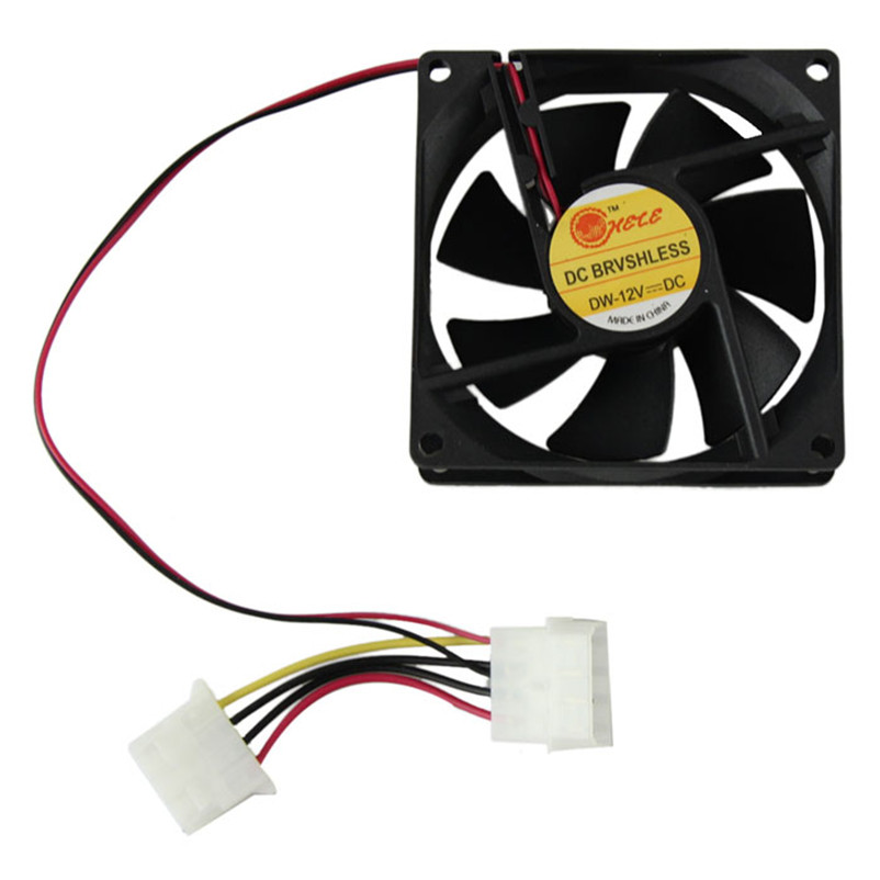 цены Hot sale 80mm Fan PC CPU cooler Fan 4Pin Computer Cooler 12V 8CM PC CPU cooler Quiet Cooler Fan for video card Drop shipping