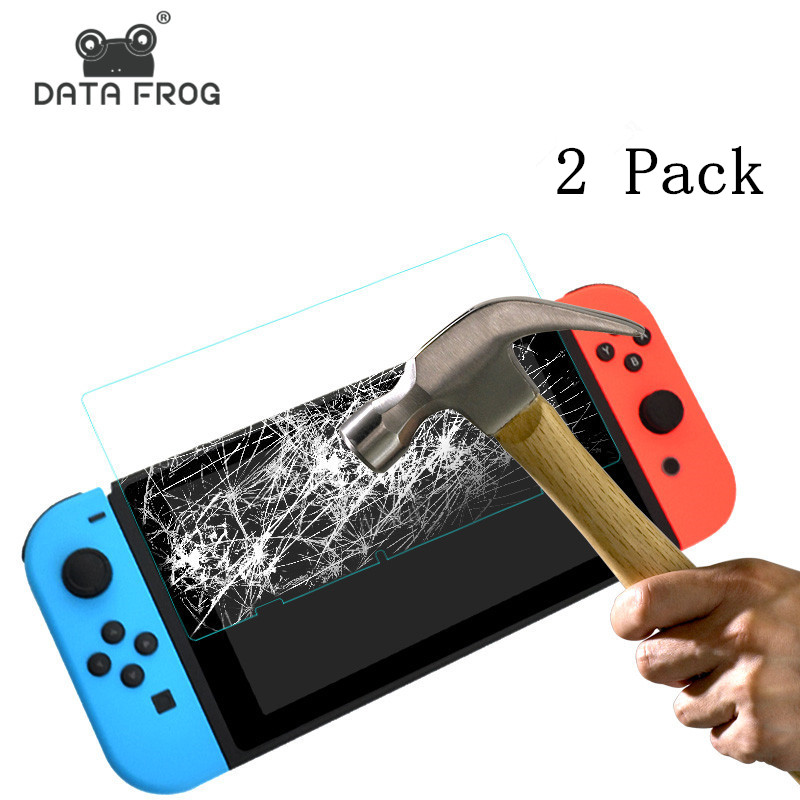 2 Pack 9 H Tempered Glass Screen Protector For Nintend Switch Protective Film Cover For Nintend Switch NS Accessories 2018 2sets lcd screen protectors guard film for nintend 2ds clear touch protect protective top bottom seal film for nintend 2ds