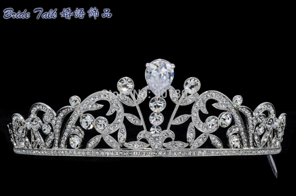 Austrian Crystal Zircon Pageant Tear Drop Zircon Tiaras Crown Headbands for Wedding Bridal Jewelry Accessories SHA8676 все цены