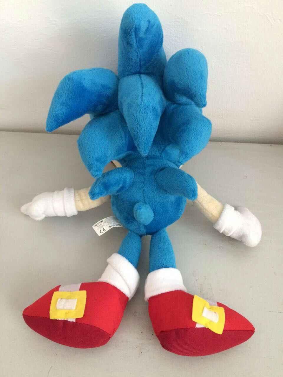 Bonecos de pelúcia do anime, brinquedos de pelúcia do sonic o ouriço, 40cm, azul, sônico, brinquedos de pelúcia, bonecos para crianças, presentes do bebê meninos grandes brinquedos macios para crianças