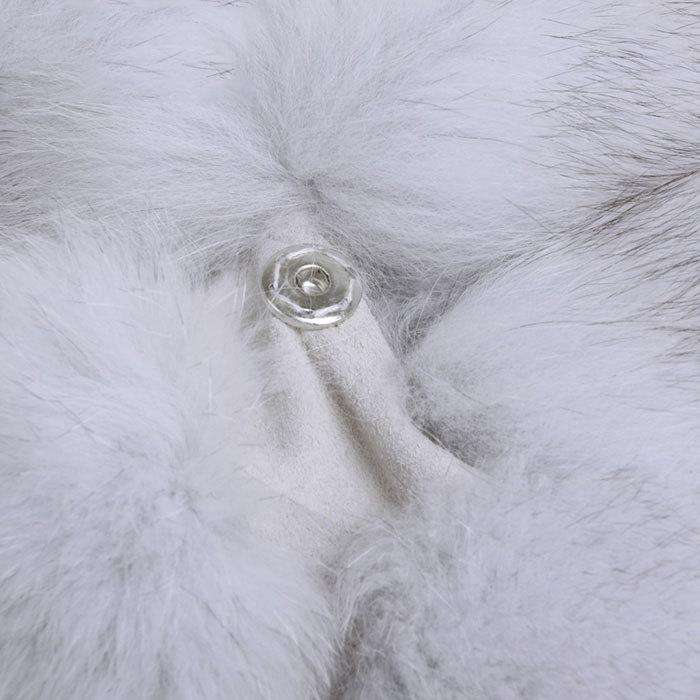 Chaud Air De Noël Plein La Manteau Vêtement pink Veste Plus Gilet Densité Manches Sans red Fourrure Renard En Pleine Luxe Femmes Vêtements Taille White T8Adqwr8