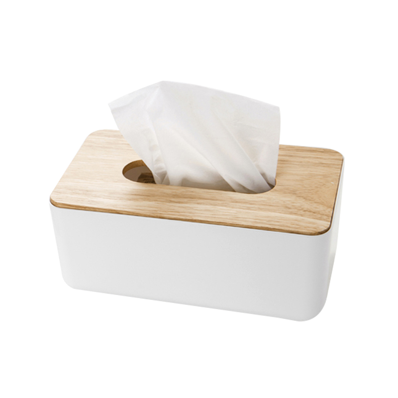 Removable Tissue Boxes Napkin Holder Wooden Cover Paper Handkerchiefs Car Home Dining Table Kitchen Storage Organization Items