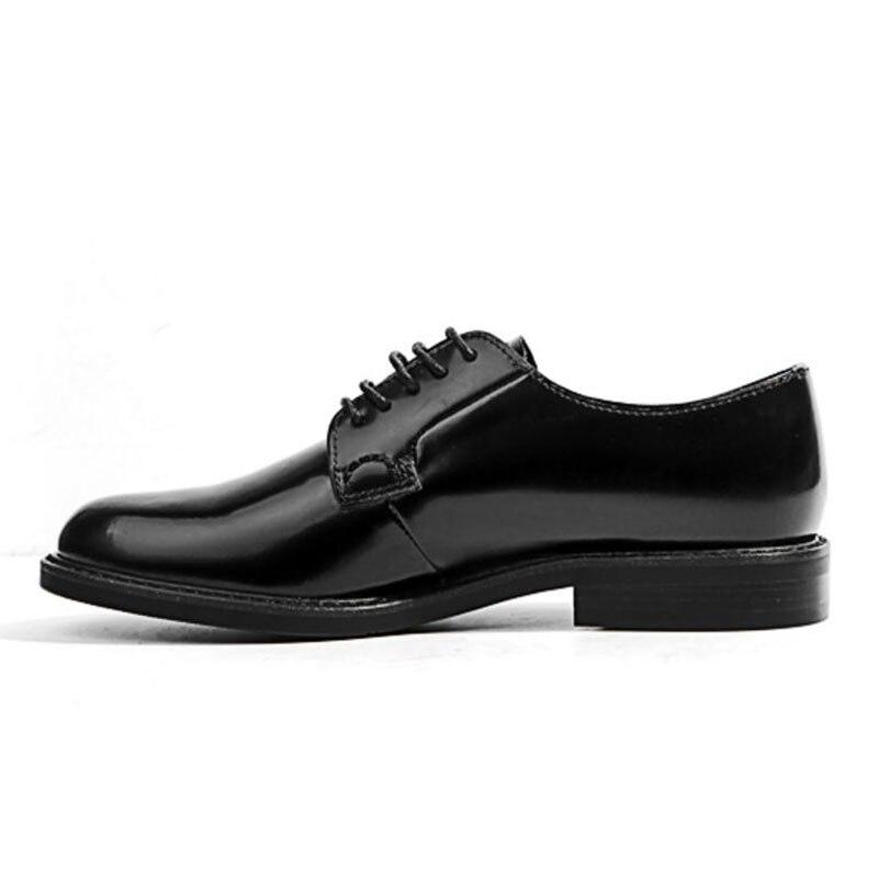 Kemekiss Cuir Women'shoes Mode Véritable Bout Rond Chaussures Dames Étudiants Femme Simple Vacances Noir Lacent Appartements En 29DHIYWE