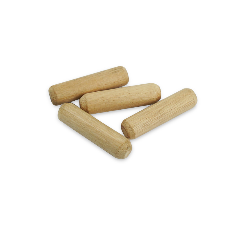WOODEN DOWEL FLUTED PINS M6 6MM X 30MM pack of 20