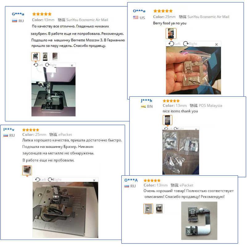 1 قطعة ماكينة خياطة المنزلية رائجة البيع كوى القدم توالت هيم قدم مجموعة Brother المغني الخياطة اكسسوارات 3 الحجم