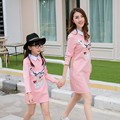 Spring Winter Matching Mother Daughter Clothes Cotton Mother Daughter Dresses New Year Baby Girl Clothes Knee-Length Girls Dress