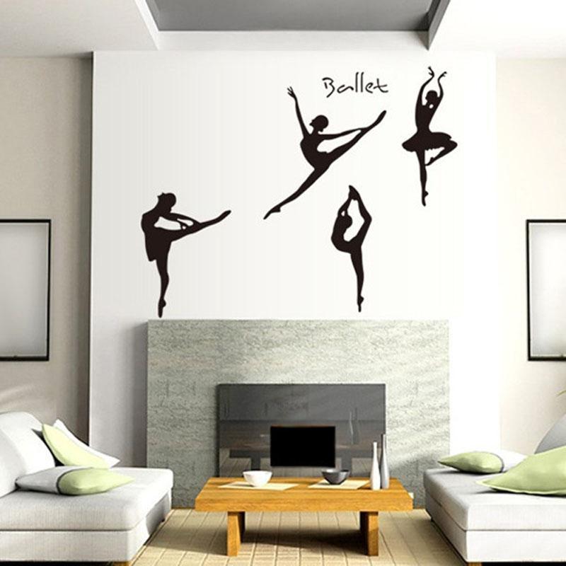 Dancer Ballet Girl Art Wall Sticker Pvc Wall Decals Home Decor For