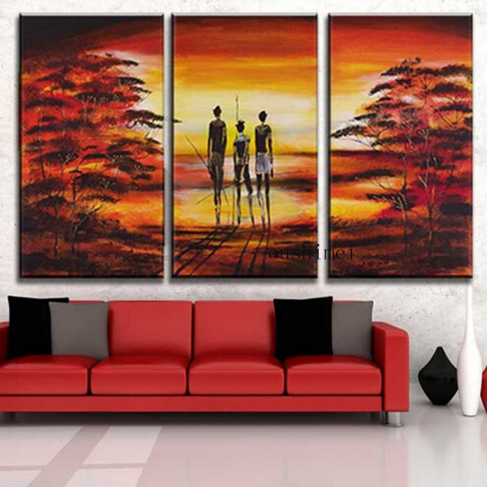 Us 39 1 50 Off Hand Painted Pictures Abstract India Landscape Oil Painting Wall Home Decor Art Picture On Canvas For Living Room In