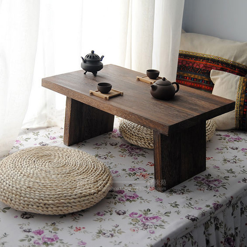 Free shipping Japanese-style tatami tables coffee table windows and wood windows and balconies to antique tea table tea table sq ...