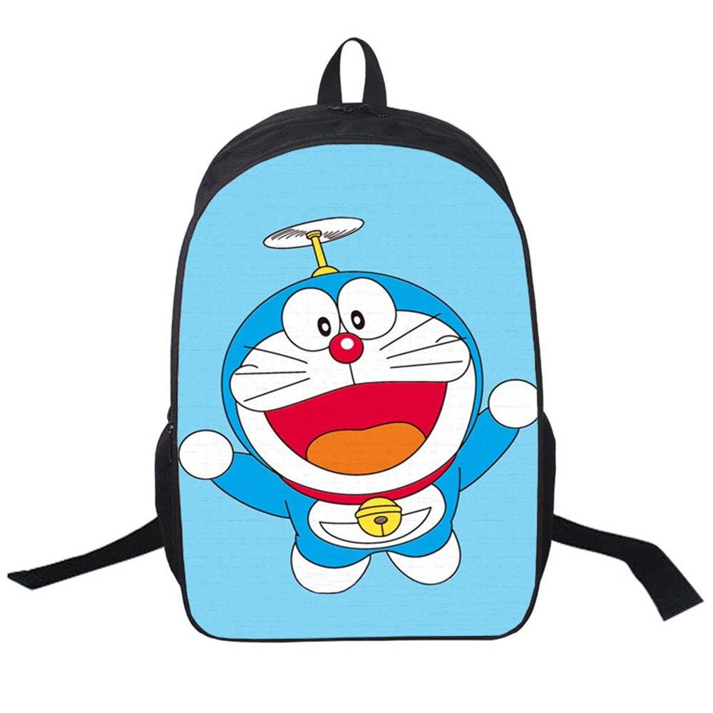 Women Bags Moive Doraemon Lovely Backpack Students School Bag For Girls Boys Rucksack Mochila Private Customize