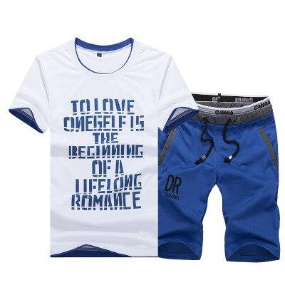 Tapoo Summer Men Sportwear Sets Tracksuit Male Outwear Sweatshirts Patchwork Men Hoodies Stand Collar Male Tracksuit 4XL