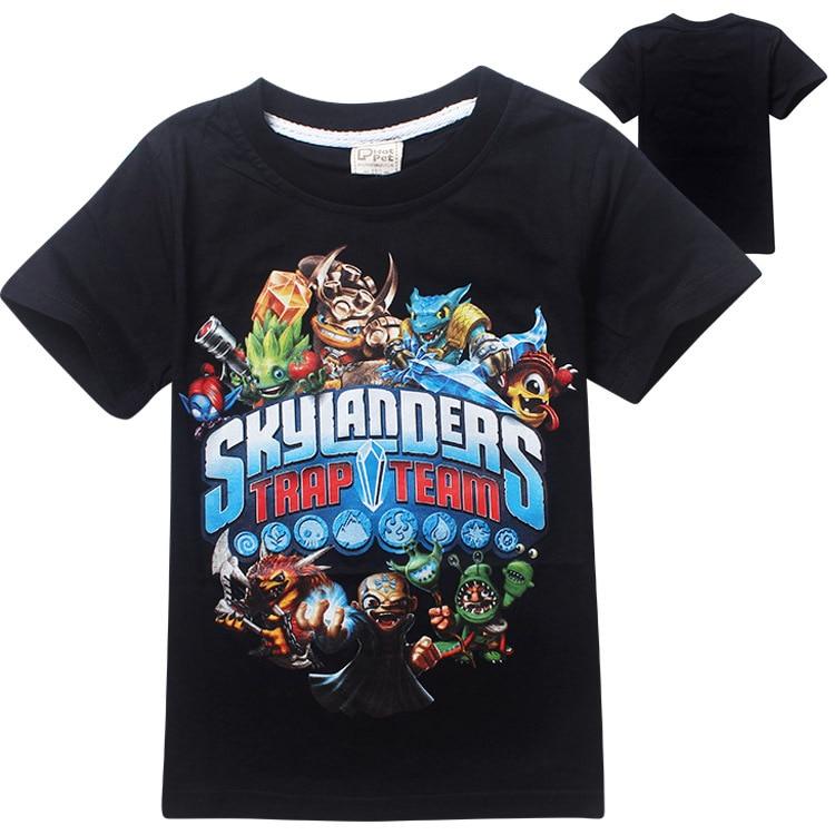 3-10 Years 100% Cotton <font><b>Skylander</b></font> T-shirt For Boy High Quality Tops & Tees Summer Sky lander Baby Girls Boys T Shirt