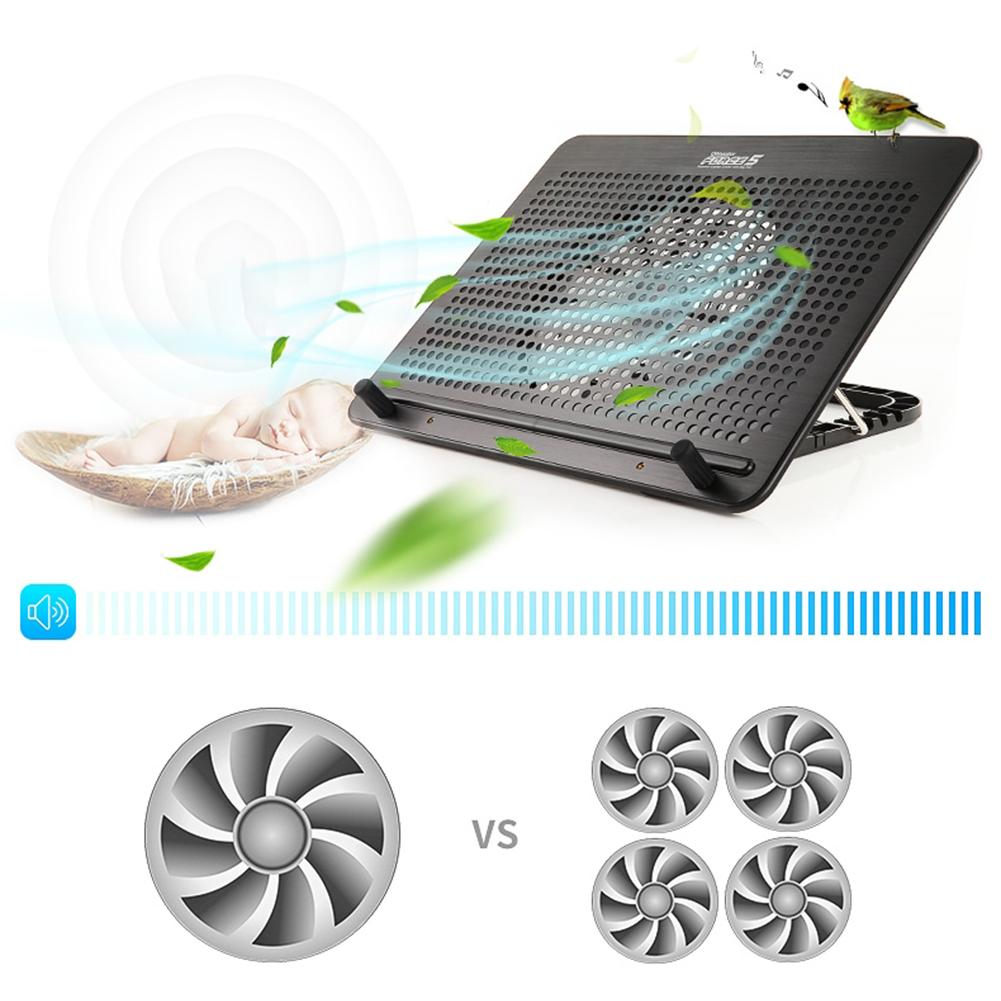 Laptop Cooler Cooling Pad Silent Fan Home USB Laptop Turbo Cooling Base Pad Bracket Radiator For 17inch Laptop Gaming Daily