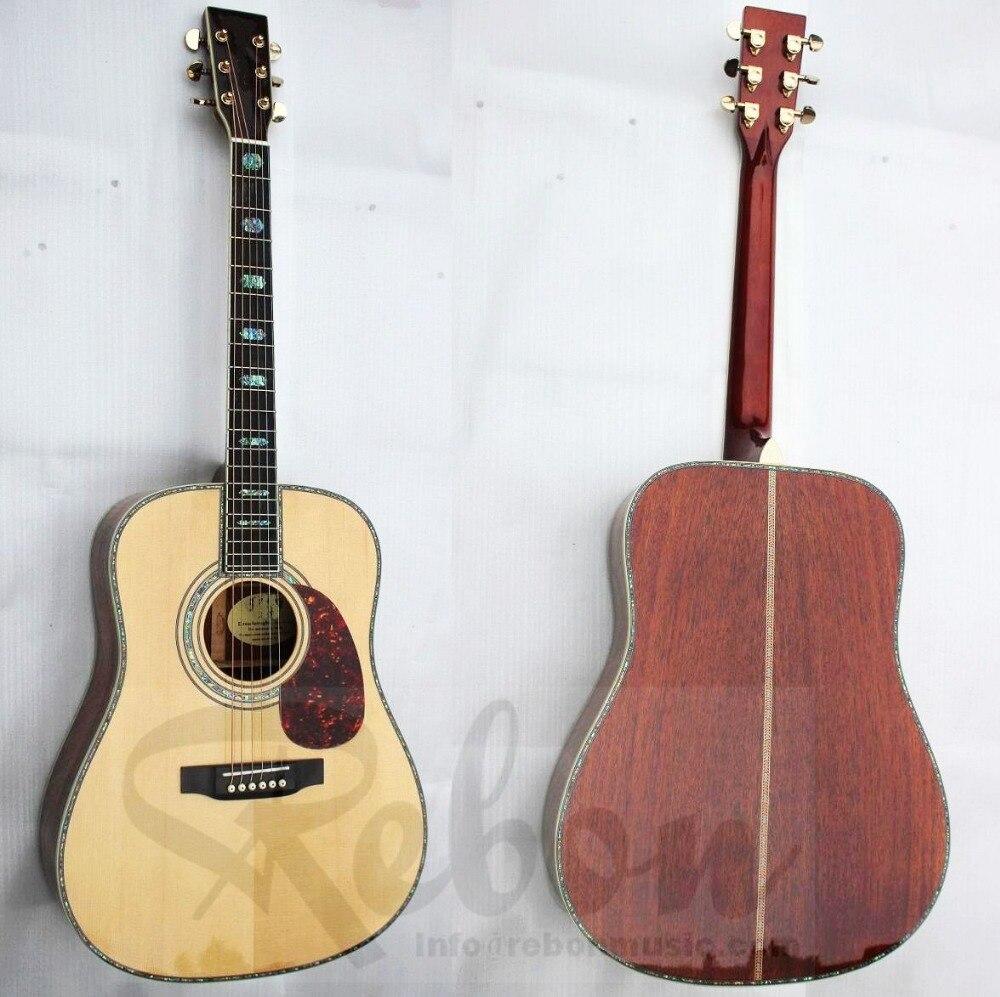 Mahogany Wood Guitar ~ Weifang rebon size all solid spruce mahogany wood