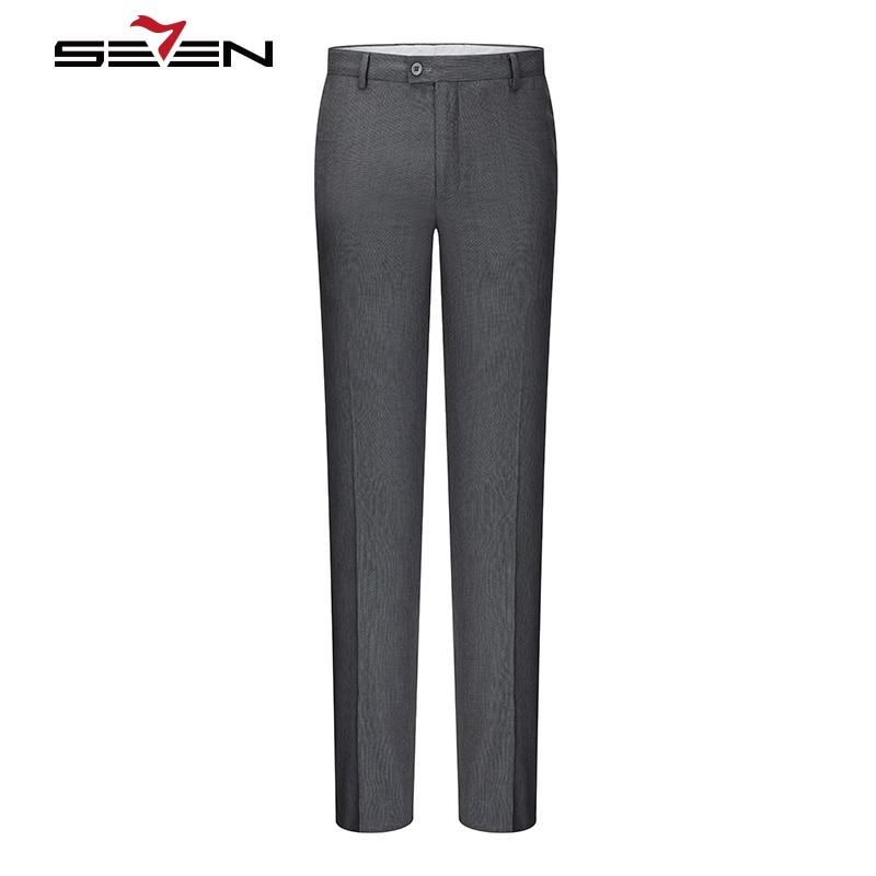 Seven7 Traje de Pantalones de Los Hombres Clásicos Masculinos Pantalones  Para Hombre Pantalones Slim Fit Oficina 3ed5f9f93ee5