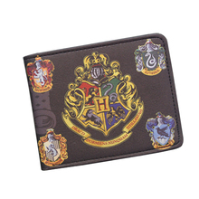 Harry Potter Wallets With Small Zipper Pocket Men Wallet Coin Bag Credit Card Holder Hogwarts Badge Designer Wallet For Student(China (Mainland))