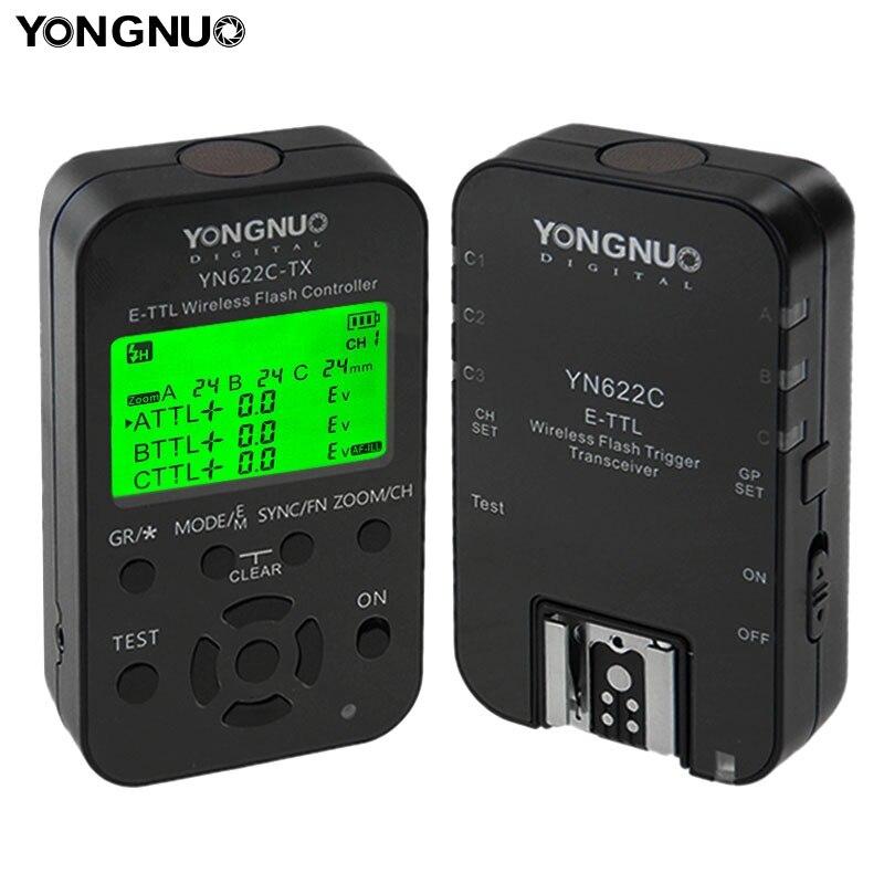 Yongnuo YN-622C-KIT YN 622C ETTL Flash Trigger With Transceivers For Canon Camera Wireless Triggers Flash Studio acv pi 622