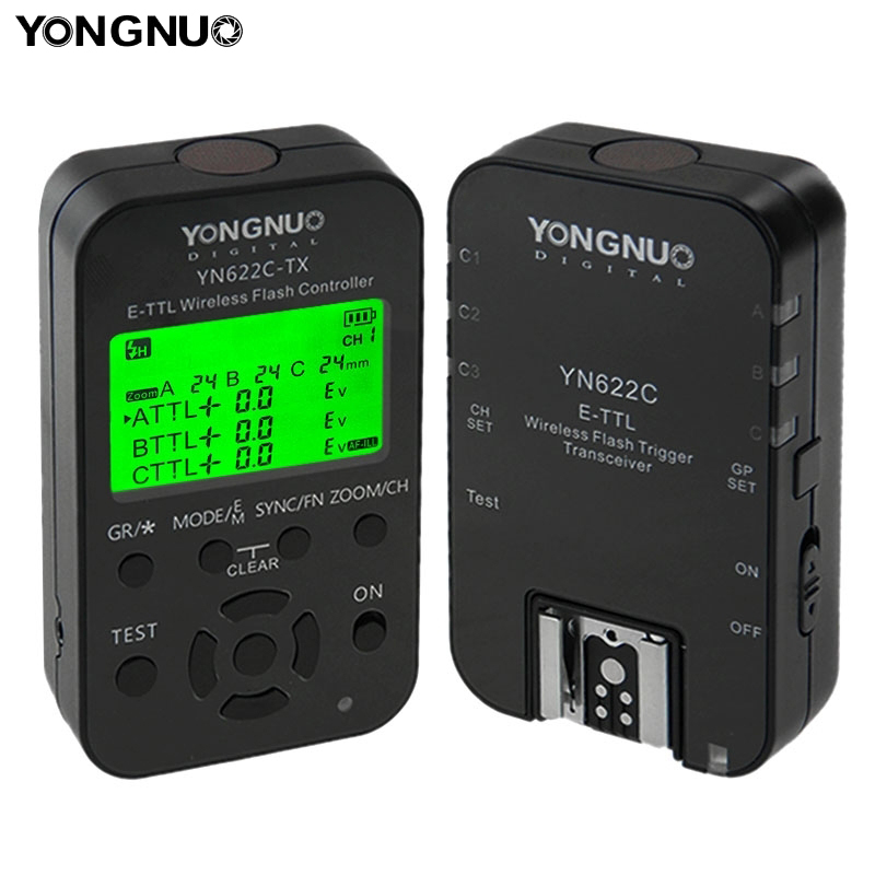 Yongnuo ETTL YN-622C-KIT YN 622C Flash Trigger Con Ricetrasmettitori Per Canon Camera Wireless Trigger Flash Studio