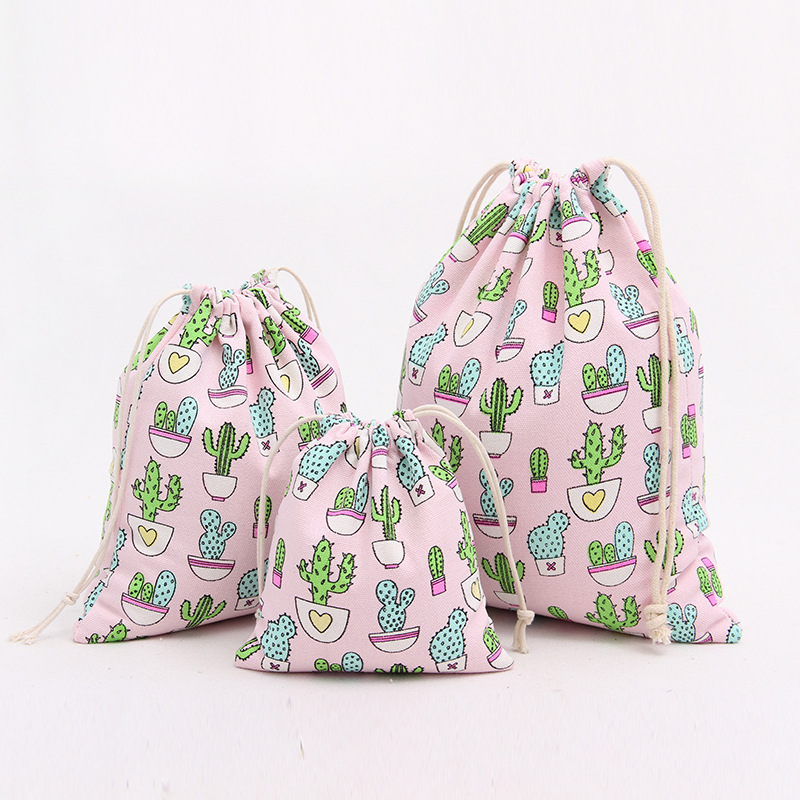 494562cc0671 3pcs/set girl Cosmetic Bag Flower Print cotton pouch cute Makeup Bag Women  travel bag canvas Make Up Bag Wash Organizer bag-in Cosmetic Bags & Cases  ...