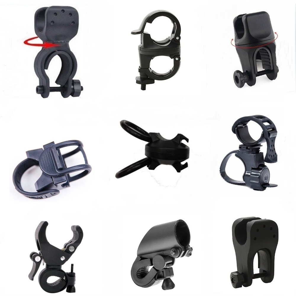 AloneFire 360 Degree Rotation Cycling Bike Flashlight Holder Bicycle Light Torch Mount LED Head Front Lamp Headlight Clip