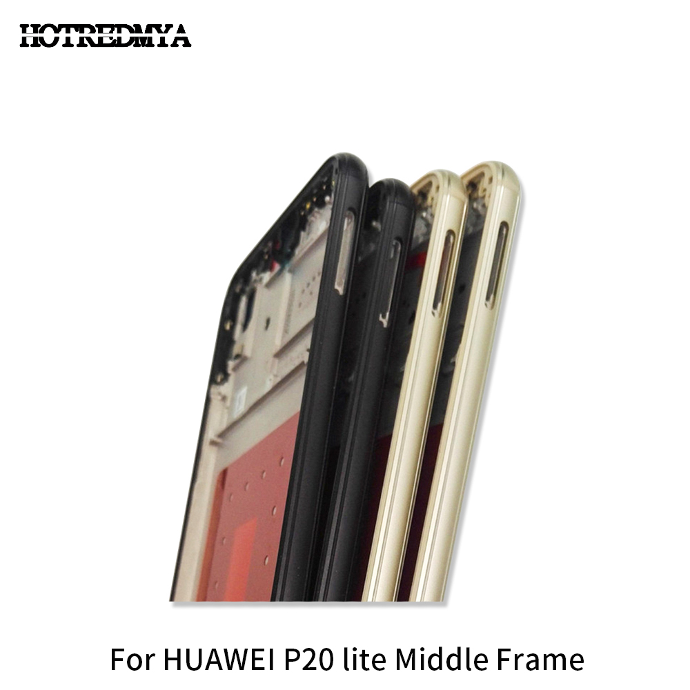 Middle Frame Housing For HUAWEI P20 Lite Front Housing Middle Frame Plate Screen LCD Supporting Front Chassis Replacement Parts in Mobile Phone Housings Frames from Cellphones Telecommunications