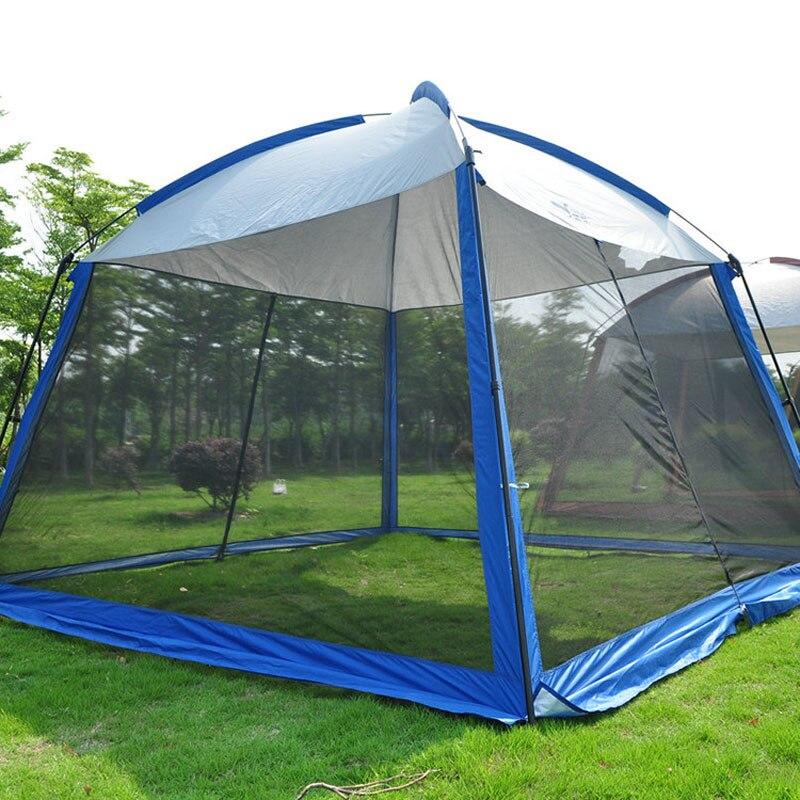 ShanYeLang 5-8 personne utiliser tente de Camping en plein air prévenir les moustiques Gazebo grand espace Carpa Camping abris ultra-légers