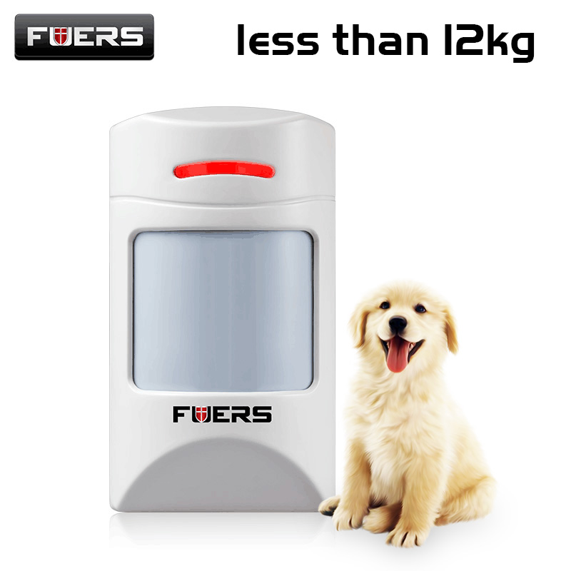 New Wireless Pet-friendly Pet-Immune Animal Friendly Motion IR PIR Sensor Less than 12kg 433MHz pet Detector For Alarm System цена