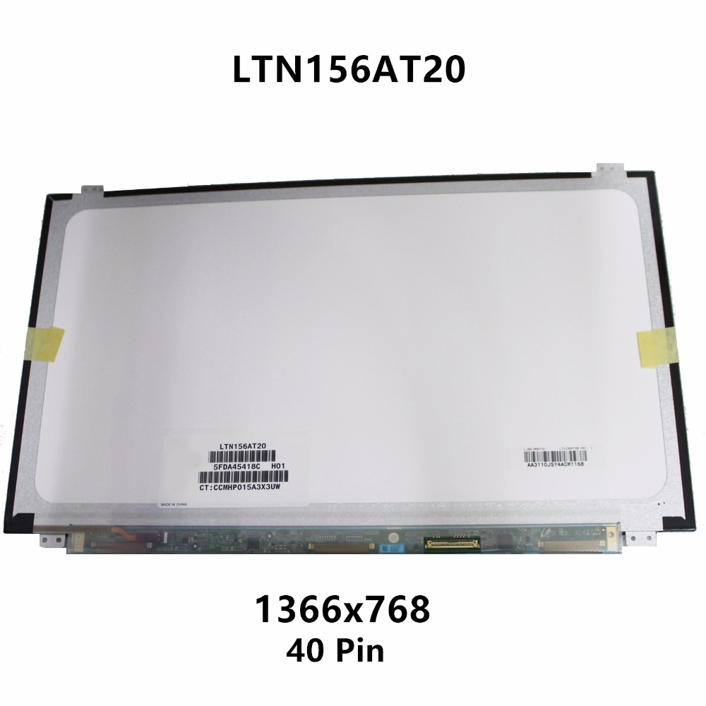 New 15.6'' Laptop LCD LED Screen Slim Display Matrix Panel Replacement LTN156AT20-T01 LTN156AT20-H01 For ASUS S56C S56CA S550CA new 15 6 laptop lcd led screen display panel for asus a52 a52f a52f x3