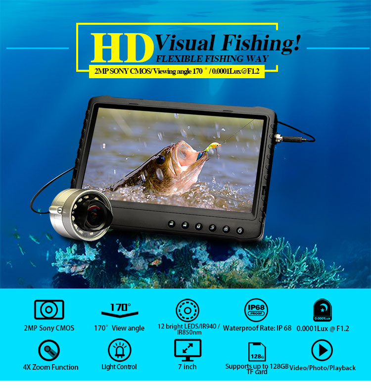 3rd eye 2.0mp alta resolução 15m peixe