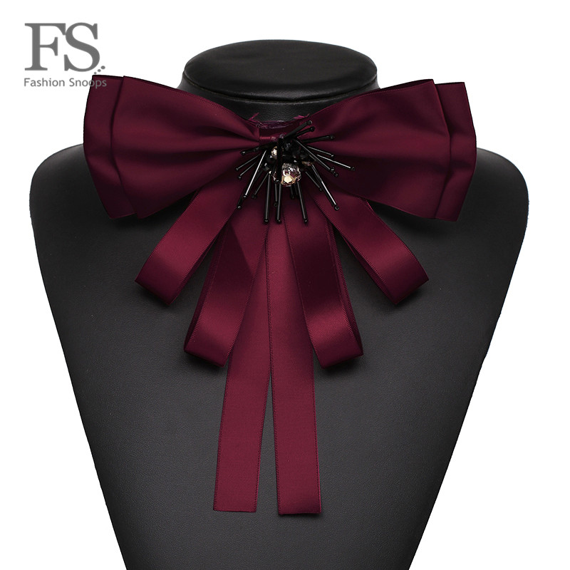 FASHIONSNOOPS New Classic Cloth Clip Women Tie Bow Brooches Hot Fashion Lovely Bowknot C ...