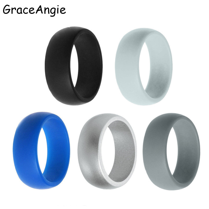 GraceAngie High Quality Silicone Rings Gay Jewelry Round Cock Rings Delay Ejaculation Party Rings Adult fun Products For Men