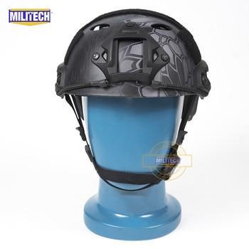 MILITECH FAST KPBK PJ Carbon Style Vented Airsoft Tactical Helmet Ops Core Style High Cut Training Helmet Ballistic Style Helmet