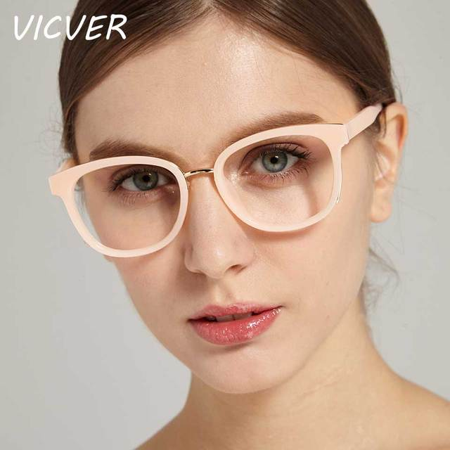 cf7befe0263 Trendy Glasses Women Ladies Square Clear Retro Transparent Eyewear  Eyeglasses Optical Frames Female Vintage Plain Mirror