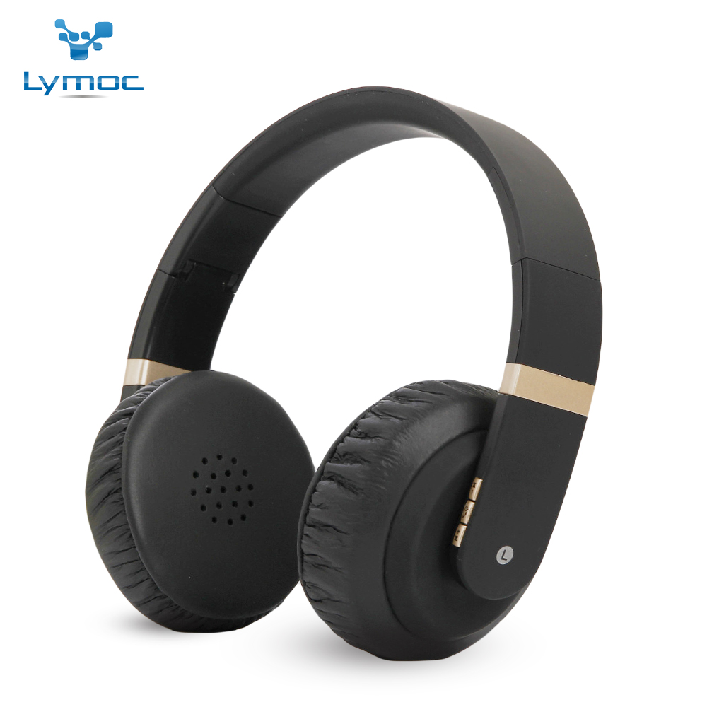 Lymoc BT1602 Bluetooth Headphones Soft Big Earpads Wireless Headset V4.2 Noise Cancelling Heavy Bass Handfree Earphone for Phone joyfly bluetooth wireless headphones noise reductio earphone super bass handfree headset headband for iphone sonny pc laptop ps3