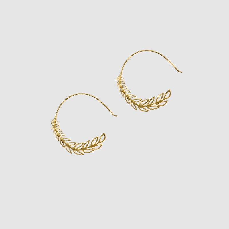 Amorita boutique silver925  olive branch hook Earrings
