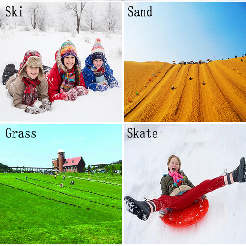 Outdoor Sports PE Plastic Skiing Boards Winter Plastic Sand Grass Sledge Snow Luge Outdoor Equipment