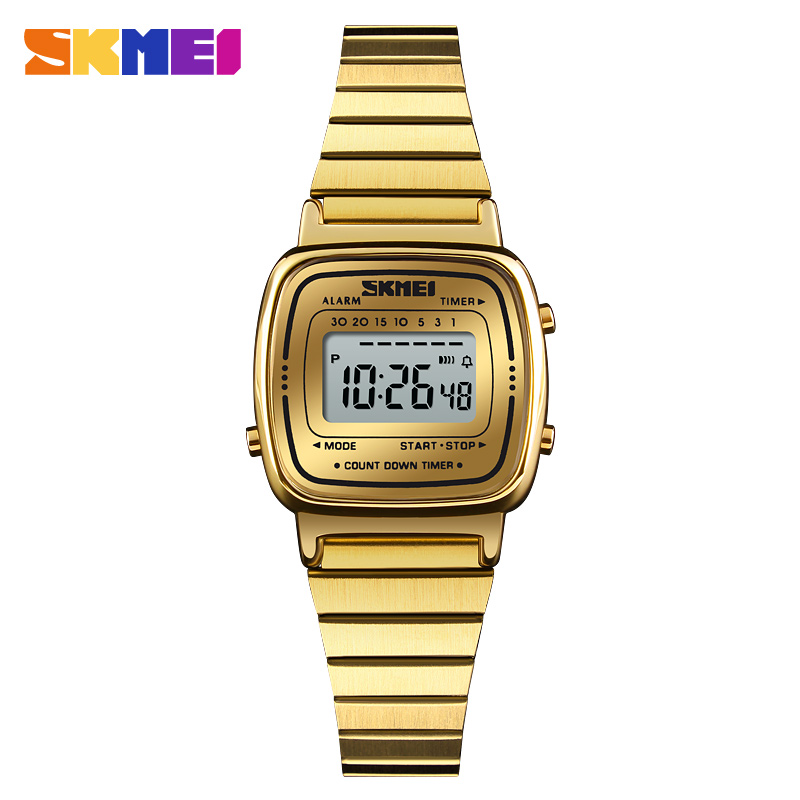 SKMEI Lady Digital Mode Uhr Top marke luxus Casual Wasserdichte Frauen Uhr Countdown Alarm Armbanduhr Relogio Feminino