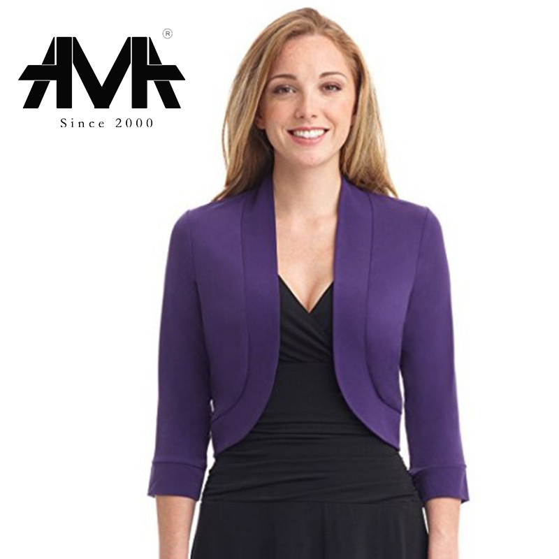 Women Blazers Suit Women Fashion Casual Short Blazers Solid Office Lady Coat Jacket Tops Suit Women Clothing(China)