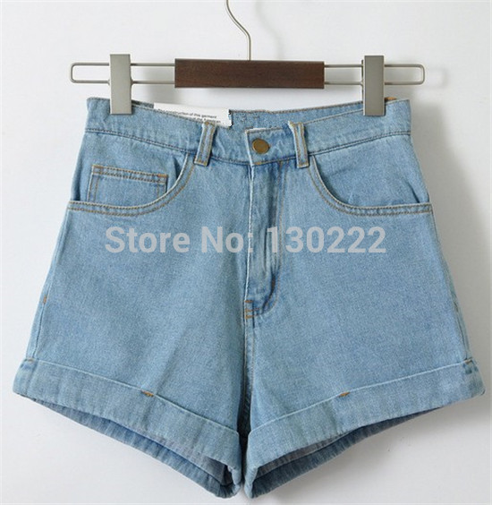 2016 summer shorts women girl high waist denim shorts high quality of cotton blends denim Plus size AA shorts for 4 season