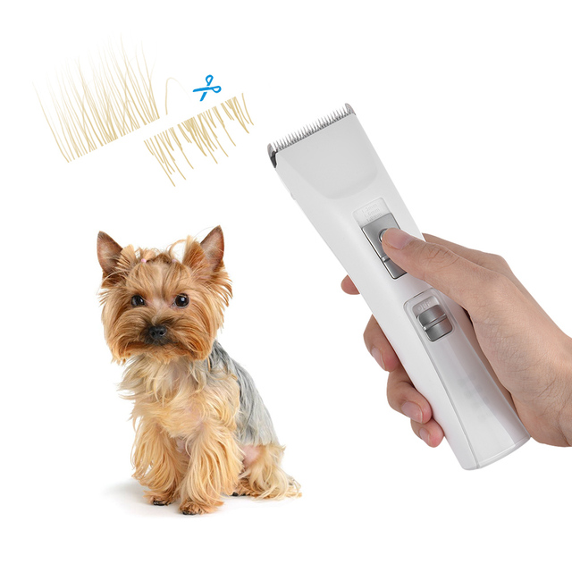 Cordless Pet Dog Hair Clipper Fur Trimmer Kit Rechargeable With 3