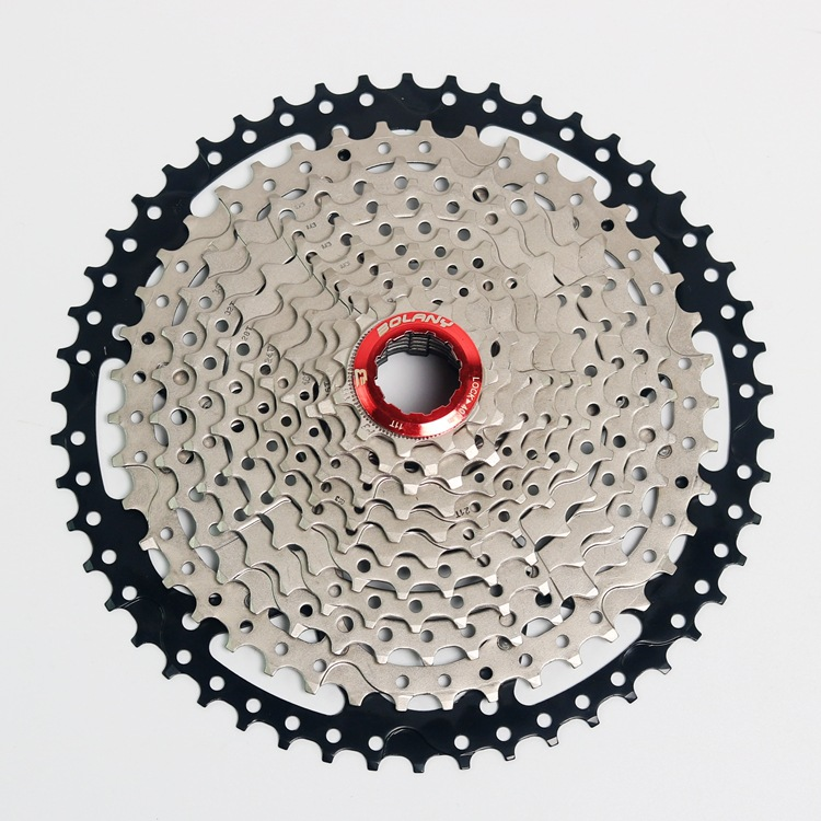BOLANY MTB 11 Speed bike bicycle cassette Mountain Bicycle freewheel 11-50T west biking bike chain wheel 39 53t bicycle crank 170 175mm fit speed 9 mtb road bike cycling bicycle crank
