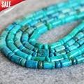 For Necklace&Bracelet 6*9mm Natural Blue Azurite Chrysocolla Beads Jade Jasper Torus Women Gifts 15inch Jewelry Making Design